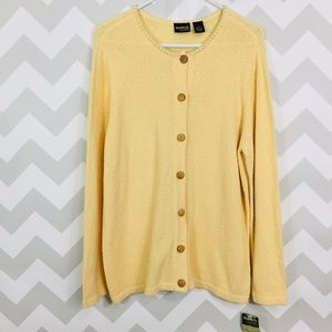 guide series NWT size XL yellow cardigan sweater